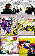 Original Comic Art:Miscellaneous, X-Men #138 Page 23 Hand-Painted Color Guide (Marvel,1980)....