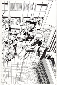 Gene Colan and Steve Mitchell Silverblade #4 Cover Original Art (DC, 1987)