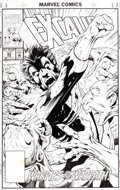 Original Comic Art:Covers, Alan Davis and Mark Farmer Excalibur #62 Cover Original Art(Marvel, 1993)....