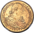 Colombia, Colombia: Ferdinand VII gold 8 Escudos 1818 NR-JF MS61 NGC,...