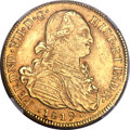 Colombia, Colombia: Ferdinand VII gold 8 Escudos 1819 NR-JF AU55 NGC,...