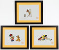 Miscellaneous Collectibles:General, Walt Disney Cartoon Serigraphs Lot of 3....