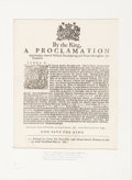Books:Pamphlets & Tracts, [King James II] Proclamation Announcing the Pregnancy of the QueenConsort Mary of Modena [The son, James Francois Edward Stua...