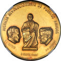 Mexico, Mexico: Republic gold Medal 1963 UNC Details (Mount Removed)NGC,...