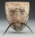 American Indian Art:Wood Sculpture, Old Man (Viejo) Mask, Mexican. 20th c....