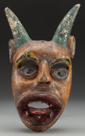 American Indian Art:Wood Sculpture, Devil (Diablo) Mask, Probably Mexican . 20th c....