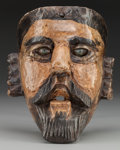 American Indian Art:Wood Sculpture, Spaniard Mask, Guatemalan. 20th c....