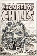 Original Comic Art:Covers, Lee Elias Chamber of Chills #10 Cover Original Art (Harvey,1952)....