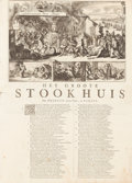 Books:World History, [Broadsides] Romeyn de Hooghe (c. 1645-1708). Four large 17thCentury Dutch Political Broadsides Satirizing James II and Louis...