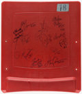 Football Collectibles:Others, New York Giants Greats Multi Signed Meadowlands Seatback....