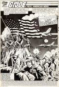 Original Comic Art:Splash Pages, Herb Trimpe and Bob McLeod G. I. Joe A Real American Hero #1Page 1 Original Art (Marvel, 1982).... (Total: 3 Original Art)