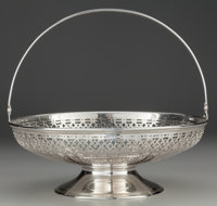 A TIFFANY & CO. SILVER FOOTED BASKET, New York, New York, circa 1912-1947 Marks: TIFFANY & CO., 18291, MAKERS...