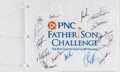Golf Collectibles:Autographs, 2014 PNC Father Son Challenge Multi Signed Flag....