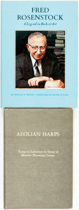 Books:Biography & Memoir, [Book Collecting/Literature/Biography]. Pair of First Editions. Donald E. Bower. Fred Rosenstock: a Legend in Books & Ar... (Total: 2 Items)
