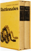 Books:Natural History Books & Prints, [Featured Lot]. [Herpetology]. Laurence M. Klauber. Rattlesnakes: Their Habits, Life Histories, and Influence on Mankind... (Total: 2 Items)