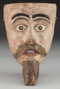 American Indian Art:Wood Sculpture, Viejo or Charro Mask, Probably Mexican . 20th c....