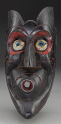 American Indian Art:Wood Sculpture, Devil (Diablo) Mask, Probably Mexican. 20th c....