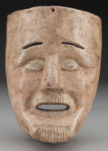 American Indian Art:Wood Sculpture, Viejo Mask, Mexican. 20th c....