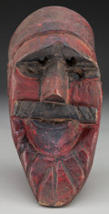 American Indian Art:Wood Sculpture, Moor Mask, Mexican or Guatemalan. 20th c. ...