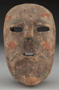 American Indian Art:Wood Sculpture, Santiagueros Mask, Probably Mexican . 20th c. ...