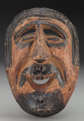 American Indian Art:Wood Sculpture, Spaniard Mask, Probably Mexican. 20th c....