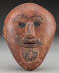 American Indian Art:Wood Sculpture, Moor Mask, Mexican. 20th c....