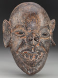 American Indian Art:Wood Sculpture, Pig / Bat-Nosed Devil Mask, Mexican or Guatemalan. 20th c....