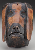 American Indian Art:Wood Sculpture, Perro (Dog) Mask, Probably Guatemalan . 20th c....