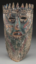 American Indian Art:Wood Sculpture, King Mask, Mexican. 20th c....