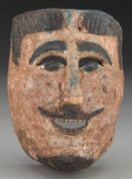 American Indian Art:Wood Sculpture, Spaniard or Dandy Mask, Mexican. 20th c.. ...