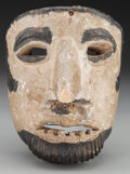 American Indian Art:Wood Sculpture, Spaniard or Viejo Mask, Mexican. 20th c.. ...