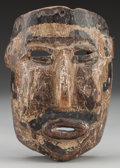 American Indian Art:Wood Sculpture, Spaniard Mask, Probably Mexican . 20th c....