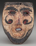 American Indian Art:Wood Sculpture, Santiagueros Mask, Probably Mexican . 20th c....