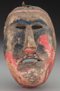 American Indian Art:Wood Sculpture, Moor Mask, Mexican. 20th c.. ...