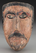 American Indian Art:Wood Sculpture, Spaniard or Moor Mask, Mexican. 20th c.. ...