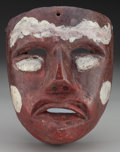 American Indian Art:Wood Sculpture, Moor (?) Mask, Mexican. 20th c.. ...