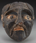American Indian Art:Wood Sculpture, Negrito Mask, Mexican. 20th c....