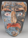 American Indian Art:Wood Sculpture, Devil (Diablo) Mask, Mexican . 20th c....