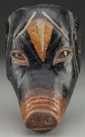 American Indian Art:Wood Sculpture, A Mexican or Guatemalan Mask...