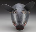 American Indian Art:Wood Sculpture, Pig Mask, Mexican . 20th c....