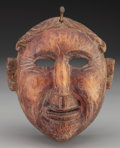 American Indian Art:Wood Sculpture, Spaniard Mask, Mexican or Guatemalan. 20th c....