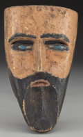 American Indian Art:Wood Sculpture, Spaniard Mask, Mexican . 20th c. ...