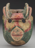American Indian Art:Wood Sculpture, Ox Mask, Guatemalan. 20th c....