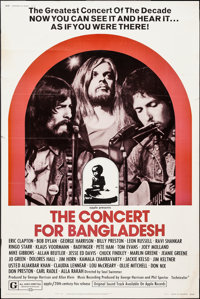 """The Concert for Bangladesh (20th Century Fox, 1972). Poster (40"""" X 60"""") Style B. Rock and Roll"""