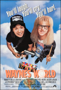 """Wayne's World & Other Lot (Paramount, 1992). One Sheets (2) (27"""" X 40"""")DS Regular and DS Advance. Come..."""