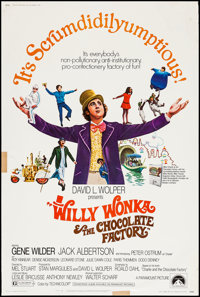 """Willy Wonka & the Chocolate Factory (Paramount, 1971). Poster (40"""" X 60""""). Fantasy"""