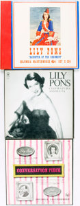 Books:Music & Sheet Music, [Vinyl Records - 33 1/3 and 78 RPM]. [Female Vocals]. Lily Pons.Group of Three LP Sets. New York: Columbia Records, cir... (Total:3 Items)