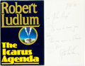 Books:Mystery & Detective Fiction, Robert Ludlum. INSCRIBED. The Icarus Agenda. New York:Random House, [1988]....