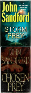 Books:Mystery & Detective Fiction, John Sandford. SIGNED. Chosen Prey [and:] Storm Prey.New York: G. P. Putnam's Sons, [2001 and 2010].... (Total: 2 Items)