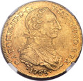 Colombia, Colombia: Charles III gold 8 Escudos 1765 NR-JV AU53 NGC,...